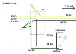 2 way switch ground connection diagram