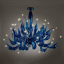 murano glass cobalt blue tentacoli chandleier modern chandeliers adelaide by murano art