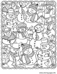 Small Picture adult christmas snowman Coloring pages Printable