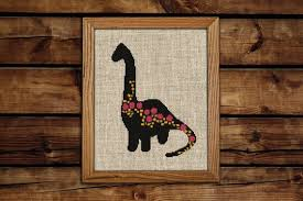 Get 30 Off When You Buy Two Or More Patterns Modern Cross Stitch Pattern Pdf Chart Instant Download Dinosaur Silhouette