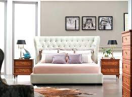 Upholstered King Size Bed Set Sleigh Leather Tufted Bedroom Sets ...