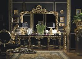 italian furniture. luxury home design italian furniture with black and gold decoration