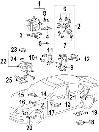 parts com® lexus ls460 abs components oem parts 2007 lexus ls460 base v8 4 6 liter gas abs components