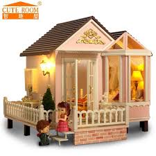 home decoration crafts diy doll house wooden doll houses miniature diy dollhouse furniture kit room led cheap wooden dollhouse furniture