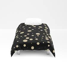 modern stylish black pastel amulet yellow hipster polka dots duvet cover by pink water society6