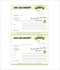 Printable Reciepts Inspiration Cab Bill Format Printable Taxi Receipt Primary Portrait Invoice