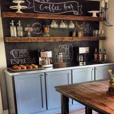 Kitchen Chalkboard With Shelf At Home A Blog By Joanna Gaines Coffee Bar Ideas Bar And Chalk