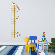 Shooting Stars Growth Chart For Children Wall Sticker