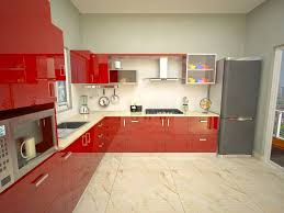 Kitchen Cabinets Red And White Awesome L Shaped Kitchen Cabinet Designs With Excerpt Design