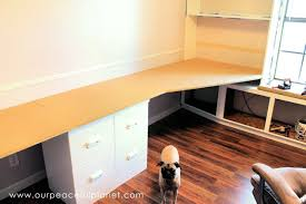 office desk large. Build A Large Surface Home Office Desk From Inexpensive 3/4\