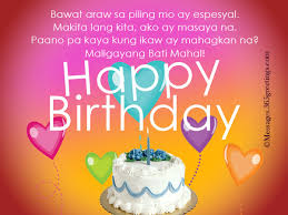 Happy Birthday In Tagalog 365greetings Com