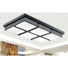 affordable rectangular acrylic shade 28 7 inch long led kitchen ceiling lights