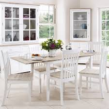florence extending table and 6 chairs set kitchen dining table and chair set in white colour with limed hardwood table top co uk kitchen home