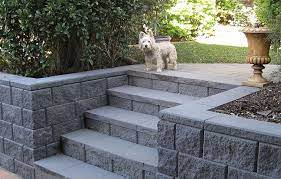 concrete block retaining wall small
