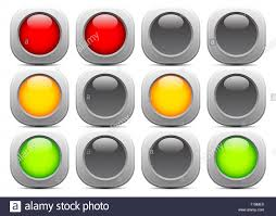 Red Light Graphic Traffic Light Signal Semaphore Or Control Lights Vector