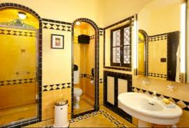 yellow tile bathroom paint colors ideas 13