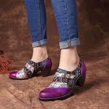 Socofy Size Chart Socofy Vintage Splicing Stripe Buckle Zipper Pumps Sandals