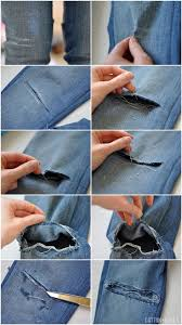 Make Pants C How To Make Holes In Your Jeans Tutorial How To Prevent
