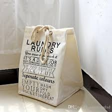 2019 fabric laundry basket bathroom laundry hamper storage bag bath sorter dirty toys with hemp rope portable 49x36 5x34cm from samlxd 17 19 dhgate
