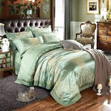 sequin shiny sage green and metallic gold rustic western style pop western style bedding western style
