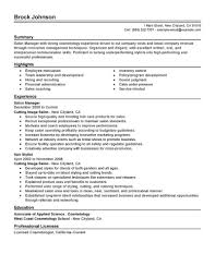 Salon Resume Example Salon Manager Resume 24 Online Resume Builder Pesproclub 19