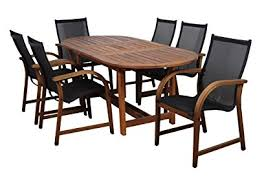 amazonia bahamas 7 piece eucalyptus oval dining set