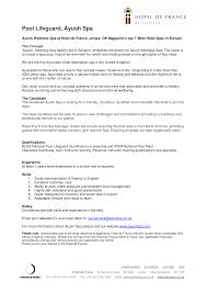 Lifeguard Resume Summary No Experience Bullets Skills Resumes Best