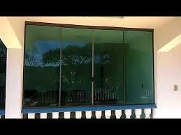 """Arte e técnica em harmonia este """"site"""" Fechamento De Vidro Verde Com Aluminio Bronze Youtube"""