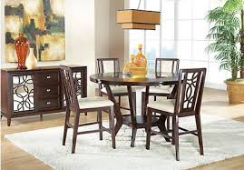 height of dining room table. cindy crawford home highland park ebony 5 pc counter height dining room of table