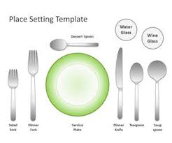 Table Setting Templates Free Place Setting Template For Powerpoint Free Powerpoint