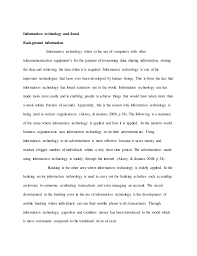 information technology essay sample information technology and fraud background