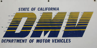 dmv signage is seen at the state of california department of motor vehicles in pasadena