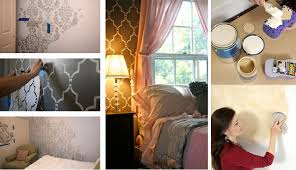 Small Picture DIY Bedroom Ideas with Cutting Edge Stencils Home Design Garden