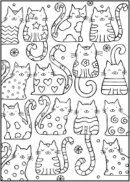 coloring spark up the cats with this cool cats coloring book four free exles to and by the great publisher dover publi
