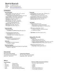 Assistant Editor Resume Resume Film Editor Resume 17