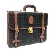 Vintage old POLLINI vintage old Pollini of Italy Monogram leather shoulder  Briefcase (with bag) 088342