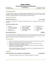one page resume sample