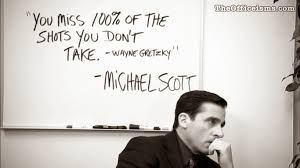 Best office wallpapers Hard Work Michael Scott Wayne Gretzky Quote Black And White Wallpaper The Office The Officeisms The Officeisms Wallpapers Covers