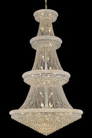 elegant lighting primo 1800 primo collection chandelier d 54in h 96in lt 48 chrome finish royal cut crystals lighting etc