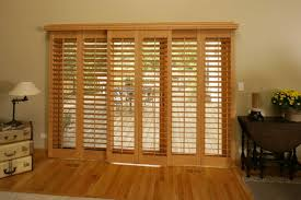 wood door blinds. 12 Photos Gallery Of: How To Finish Sliding Glass Door Shutters Wood Blinds S