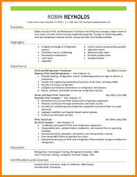 9 Hvac Resume Samples Letter Setup