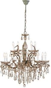 two tier smoked glass chandelier french design with droplets