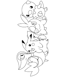 Coloring Pages Of Pokemon Black And White L L