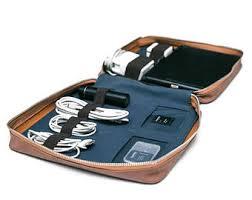 Personalized Travel Electronics Organizer | Tech Cord Organizer | Vegan  Leather Cable Organizer | Monogram Travel