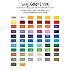Oracal 651 Vinyl Color Chart Samples Instant Download