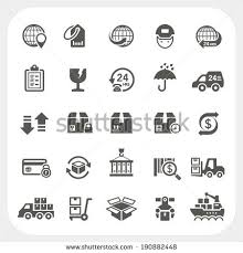 supply chain stock images royalty images vectors logistic and shipping icons set
