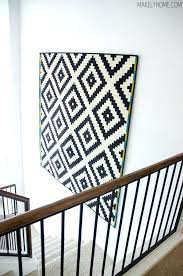 hanging rugs ideas wall rug how to hang a rug on a wall via rug wall