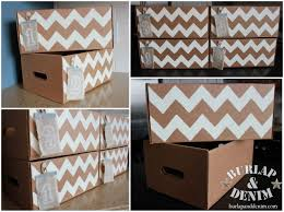 diy decorated storage boxes. Chevron Storage Boxes Diy Decorated D