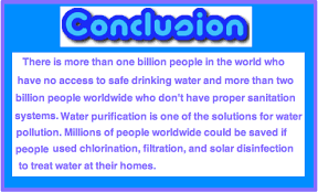 water pollution conclusion conclusion