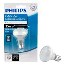 philips 25 watt r14 incandescent mini reflector light bulb soft white 2700k
